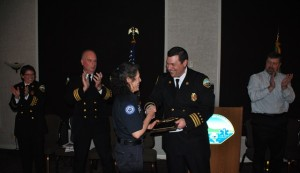 Anne Collins was awarded Firefighter of the Year