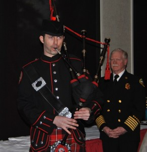 Presentation of the Colors Accompanied on Bagpipes played by Central Whidbey Fire Captain Jerry Helm