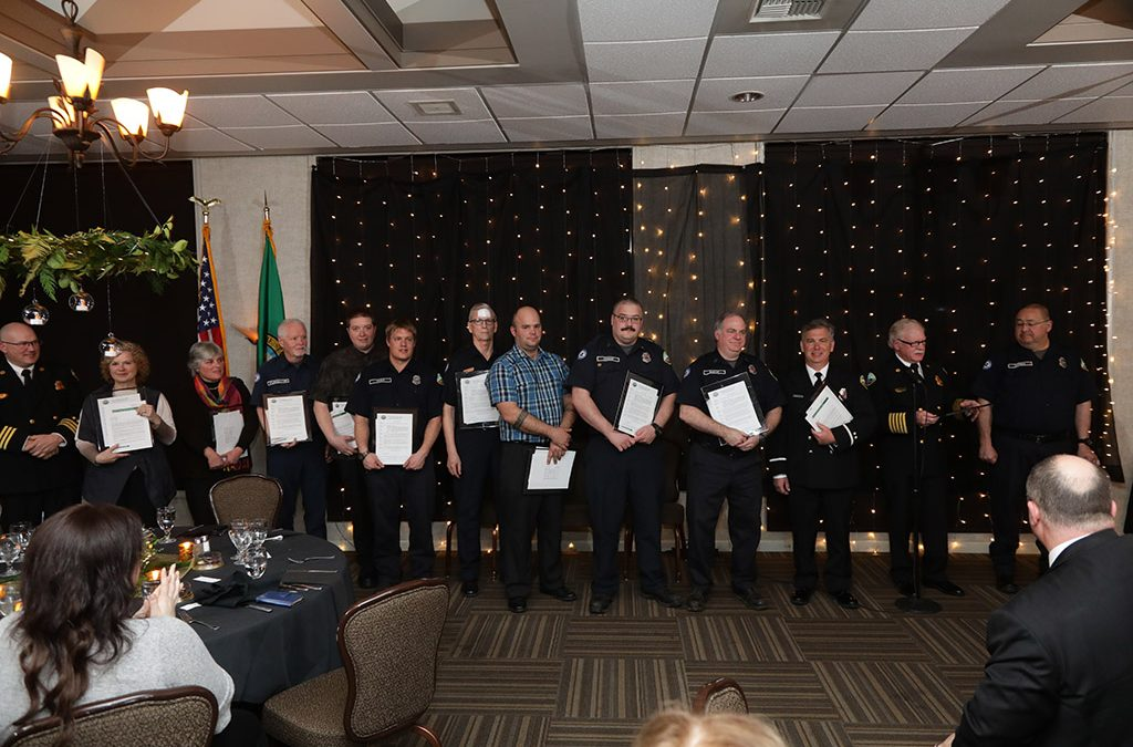 Volunteer Firefighters and EMTs Honored at Awards Banquet