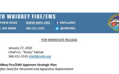South Whidbey Fire/EMS Approves Strategic Plan